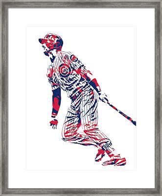Kris Bryant Chicago Cubs Pixel Art 12 Framed Print