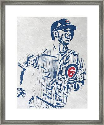 kris bryant CHICAGO CUBS PIXEL ART 2 Framed Print