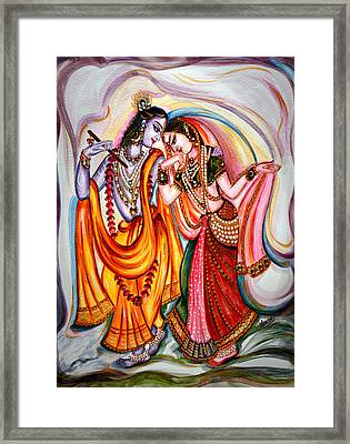 Krishna And Radha Framed Print