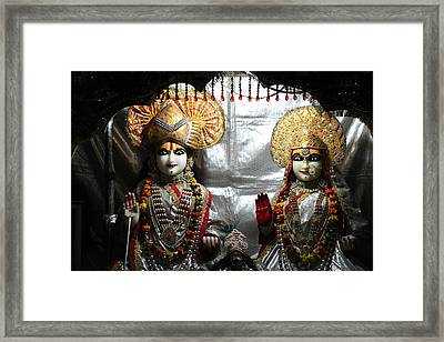 Krishna And Radha, Vrindavan Framed Print