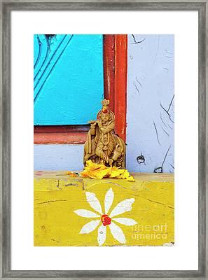 Krishna Blessings Framed Print by Tim Gainey