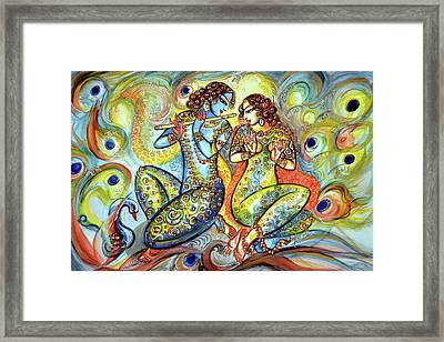 Krishna - Flute Player Framed Print by Harsh Malik