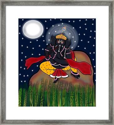 Krishna Ganapati Framed Print