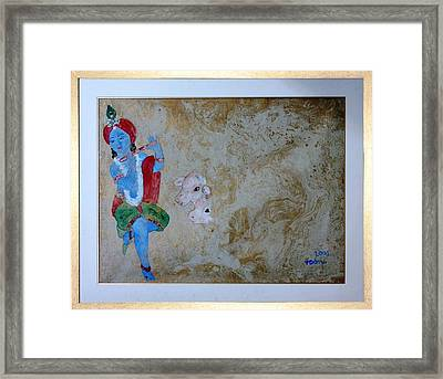 Krishna Framed Print by Rooma Mehra