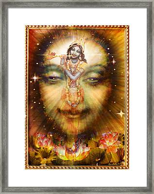 Krishnas Divine Secret  Framed Print by Ananda Vdovic