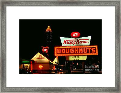 Krispy Kreme Doughnuts Atlanta Framed Print by Corky Willis Atlanta Photography