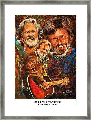 Kris's One Man Band Framed Print