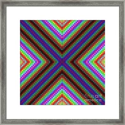 Krisskross Framed Print