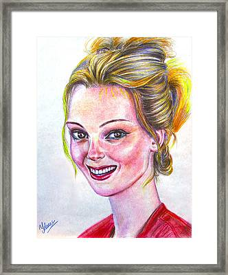 Kristen - American Framed Print