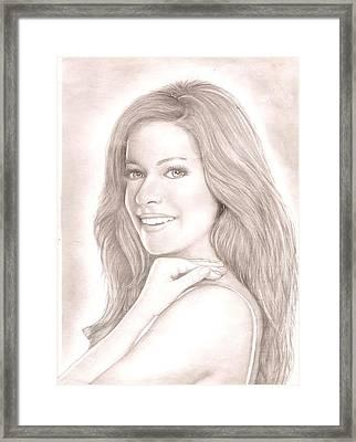 Kristin Cavallari  Framed Print by Chris Jorge