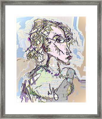 Kristine Framed Print by Noredin Morgan