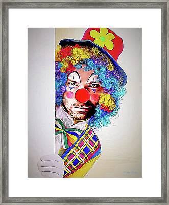 Kristoff The Creepy Clown Framed Print