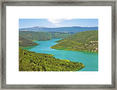 Krka River National Park View Framed Print