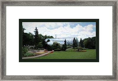 Krohn Conservatory With Border Framed Print