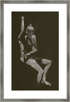 Kroki 2014 10 04_12 Figure Drawing White Chalk Framed Print