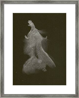 Kroki 2014 10 04_16 Figure Drawing White Chalk Framed Print