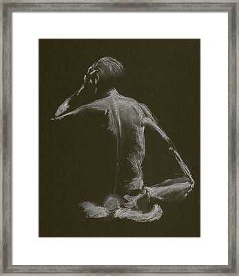 Kroki 2015 01 10_14 Figure Drawing White Chalk Framed Print