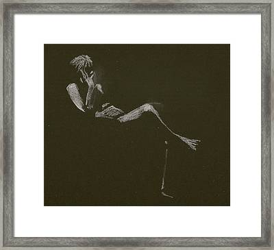 Kroki 2015 01 10_5 Figure Drawing White Chalk Framed Print