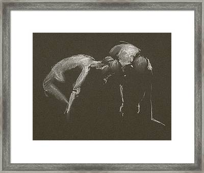 Kroki 2015 04 25 _1 Figure Drawing White Chalk Framed Print