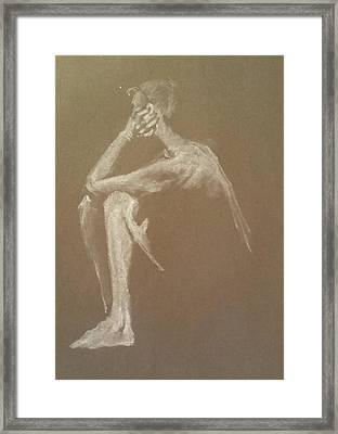 Kroki 2015 06 18_9 Figure Drawing White Chalk Framed Print