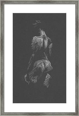 Kroki 2015 09 26 _3 Figure Drawing White Chalk Framed Print