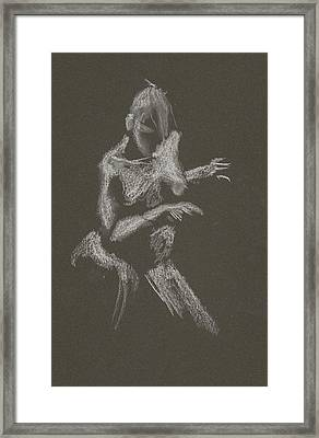 Kroki 2015 10 03_12 Figure Drawing White Chalk Framed Print