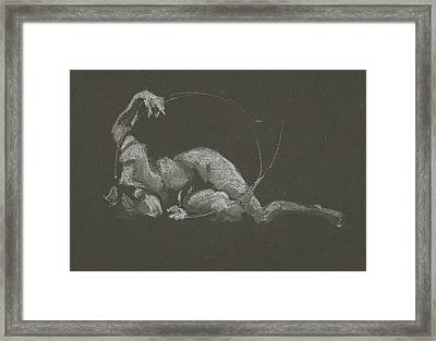 Kroki 2015 10 03_14b Figure Drawing White Chalk Framed Print