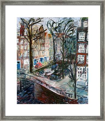 Kromboom Sloot Framed Print by Joan De Bot