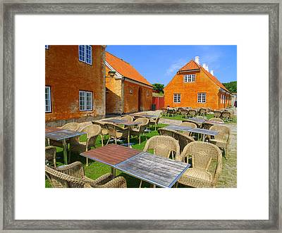 Framed Print featuring the photograph Kronborg Castle Cafe by Michael Canning