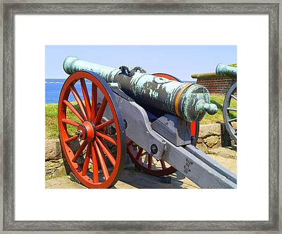 Kronborg Castle Canon Framed Print by Michael Canning