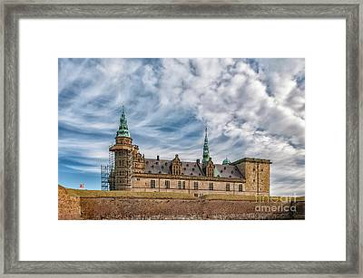 Framed Print featuring the photograph Kronborg Castle In Denmark by Antony McAulay