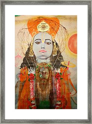 Krsna And Christ Framed Print