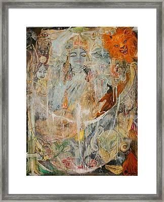 Krsna Framed Print by Brian c Baker