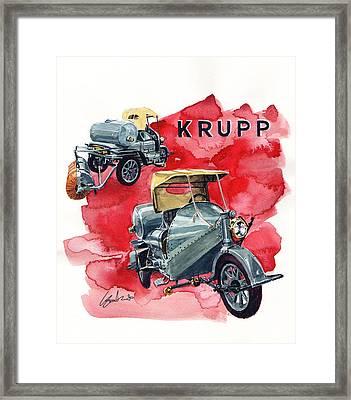 Krupp Street Sweeper Framed Print by Yoshiharu Miyakawa