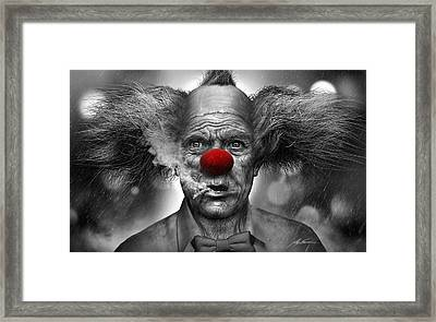Krusty The Clown Framed Print