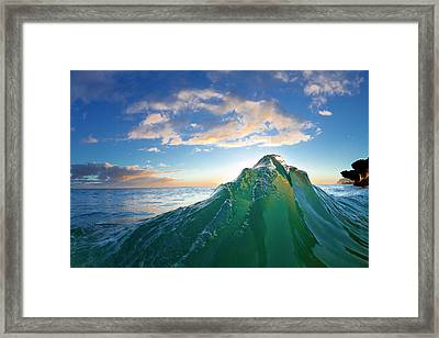 Krypton Peak Framed Print by Sean Davey