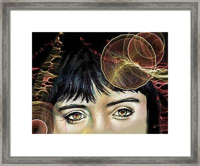 Krysten  Framed Print by Francoise Dugourd-Caput