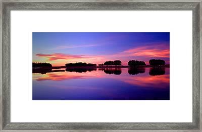 Ksar Ghilane Oasis At Sunset Framed Print by John McKinlay