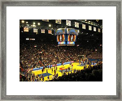 Ku Allen Fieldhouse Framed Print by Keith Stokes