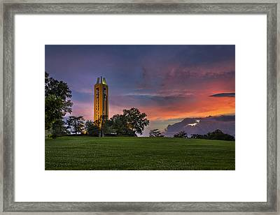 Ku Campanile Framed Print by Thomas Zimmerman