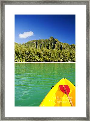 Kualoa Mountains From Kay Framed Print by Dana Edmunds - Printscapes
