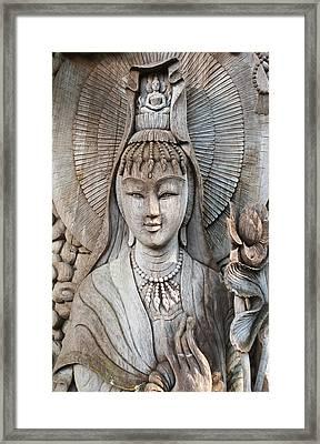 Kuan Yin  Framed Print by Apatsara Sirirodchanapanya