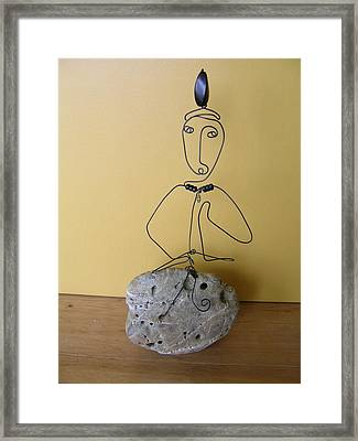 Kuan Yin Framed Print by Live Wire Spirit