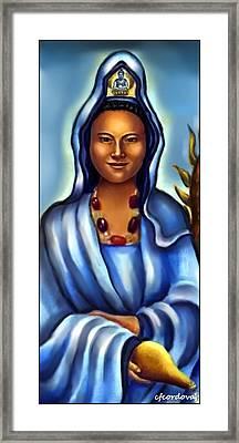 Kuan Yin -lady Of Mercy Framed Print
