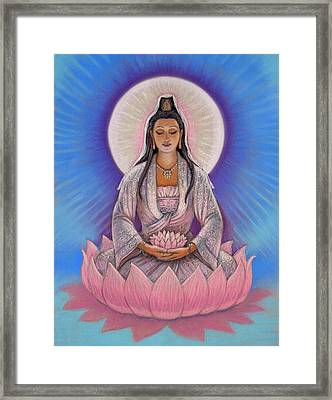 Kuan Yin Framed Print by Sue Halstenberg