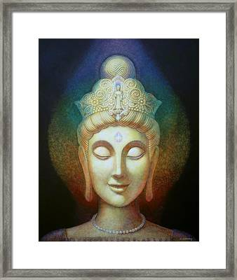 Kuan Yin's Light Framed Print by Sue Halstenberg