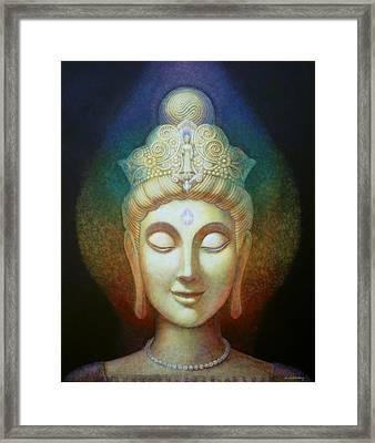 Kuan Yin's Light Framed Print by Sue Halstenberg