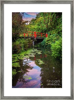 Kubota Gardens Bridge Number 1 Framed Print by Inge Johnsson