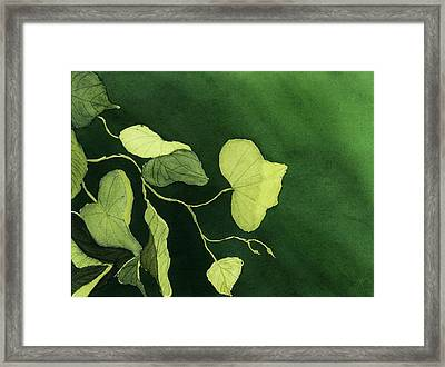 Framed Print featuring the painting Kudzu by Joan Zepf