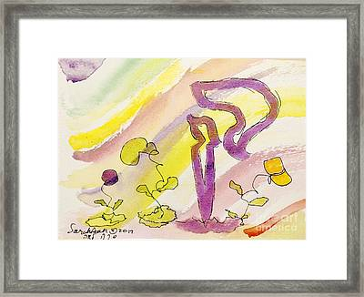 Kuf And Flowers Framed Print